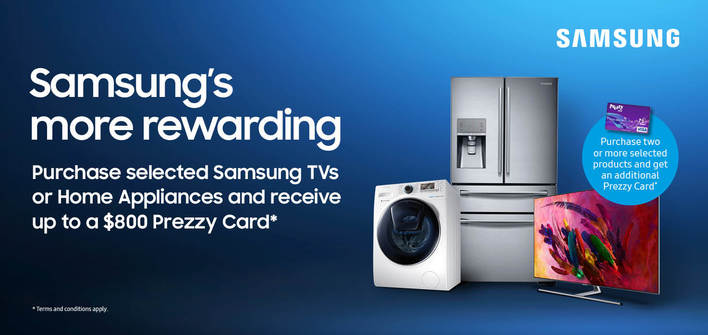Samsung's More Rewarding Prezzy Card Promo 2018