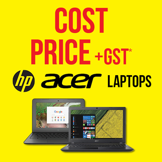 COST + GST ON ACER & HP LAPTOPS