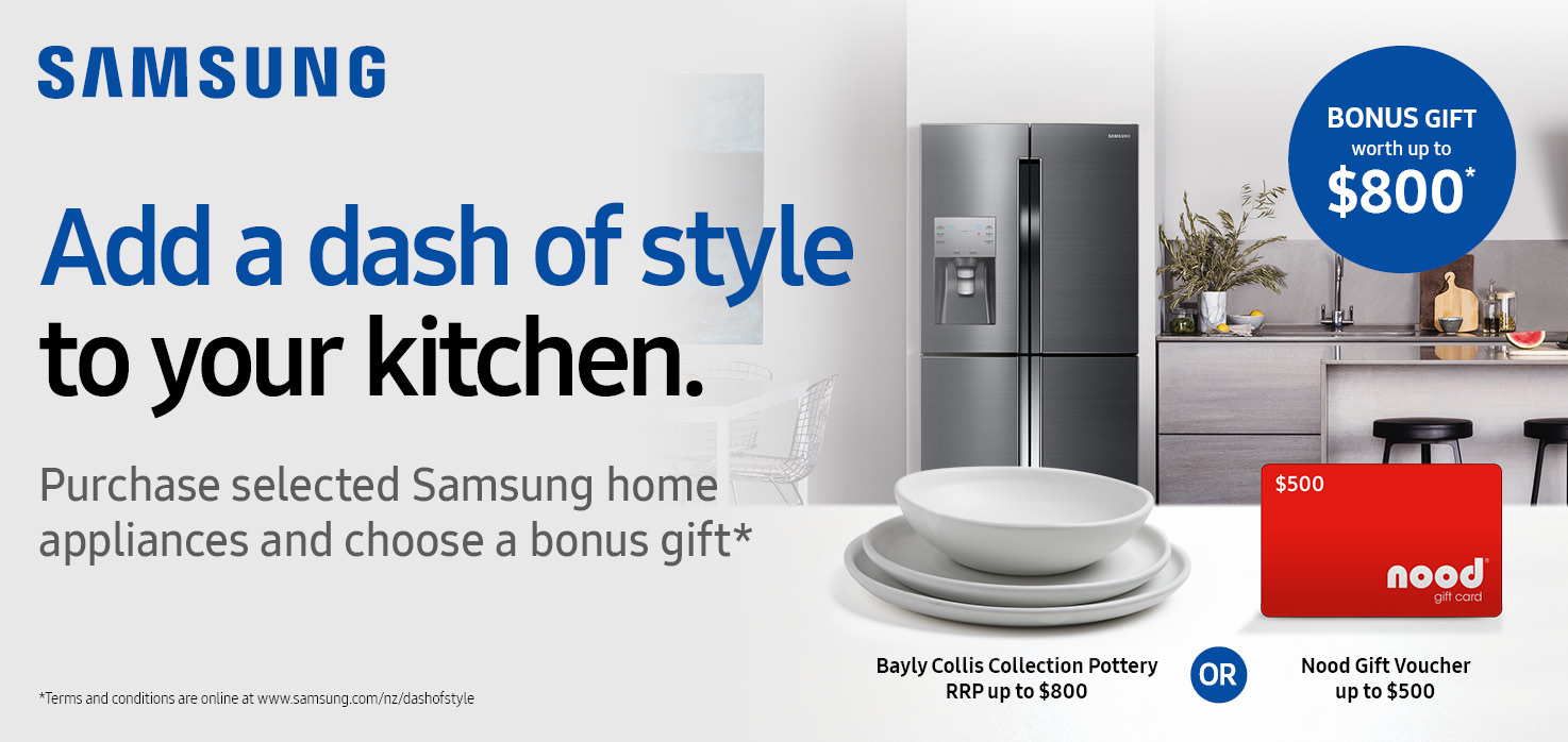 Samsung Add a Dash of Style to Your Kitchen