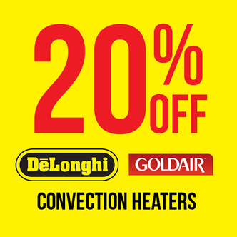 20% off all convection heaters