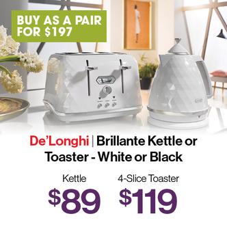 Delonghi Brilliante Toaster & Kettle