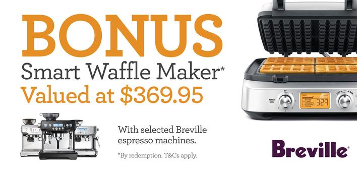 Breville BONUS 4-Slice Waffle Maker
