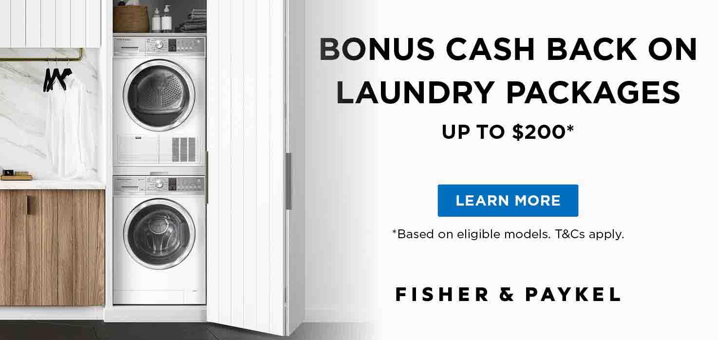F&P Laundry Perfect Pair Cash Back Promotion