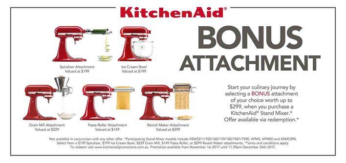 KitchenAid BONUS Attachment - Ends 24th Dec
