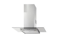Beko 90cm Stainless Steel Canopy Rangehood with Glass Decor