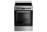 Beko 60cm Stainless Steel Vitroceramic Upright Cooker