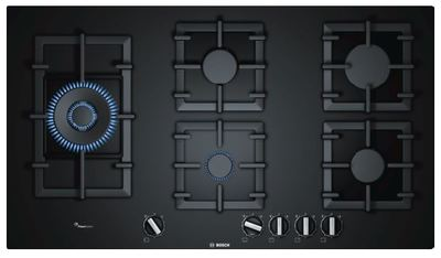 Bosch 90cm Gas Black Tempered Glass Cooktop