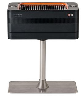 Everdure fusion electric ignition charcoal barbeque with pedestal hbce1bs 2