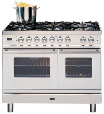 ILVE 100cm Quadra Series Freestanding Cooker - Stainless Steel