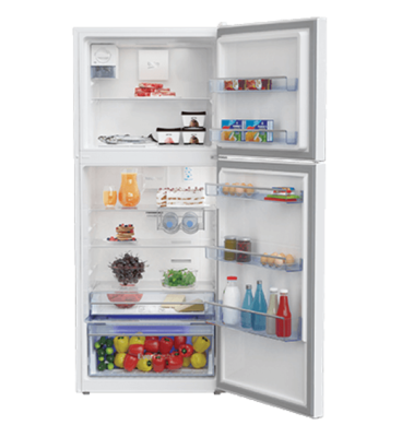 Beko 424l white top mount fridge freezer btm425w 3