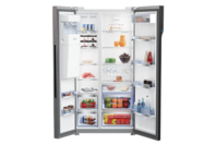 Beko 631L Side by Side Fridge with Ice & Water Stainless Steel