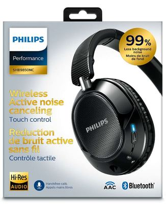 Philips wireless noise cancelling headphones shb9850nc 3