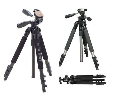 Slik Pro Tripod with 3-Way Pan/Tilt Head  with Quick Release - Black