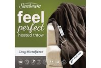 Sunbeam Feel Perfect Cosy Microfleece Heated Throw