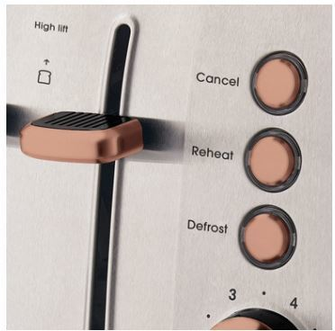 Russell hobbs brooklyn 4 slice toaster rht94cop copper 2