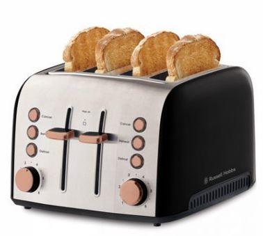 Russell hobbs brooklyn 4 slice toaster rht94cop copper 4