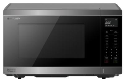 Sharp 1200W Silver 34L Inverter Microwave
