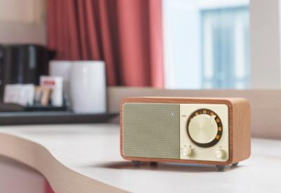 Sangean wr 7 wooden cabinet bluetooth speaker 4