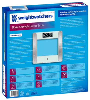 Weight watchers body analysis smart scale 4