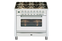 ILVE 90cm Stainless Steel Gas Cooker with Electric Oven