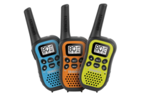 Uniden 80 Channel UHF CB Handheld Radio (Walkie-Talkie) with Kid Zone - Triple Colour Pack