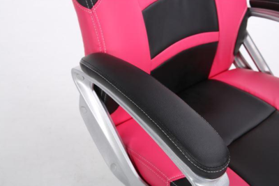 Playmax pc computer gaming chair black pink pgcpb 7