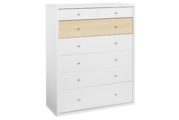 Platform10 Cosmo Tallboy Drawers (White/Beech)
