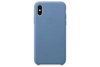 Apple iPhone XS Leather Case - Cornflower