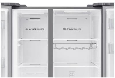 Srs694nls samsung 696l side by side fridge 4