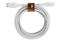 Belkin 10.0 FEET DuraTek Plus USB-C to USB-A Cable with Strap (White)