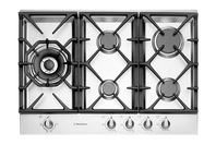 Westinghouse 75cm Stainless Steel Gas Cooktop