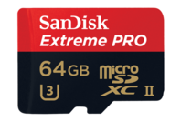 Sandisk 64GB Extreme Pro MicroSD UHS-II Card