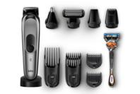 Braun All-in-one Trimmer - 10-in-1 trimmer, 8 attachments and Gillette Fusion5 ProGlide Razor