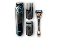 Braun Beard Trimmer with Precision Dial, 2 Combs & Gillette Fusion5 ProGlide Razor