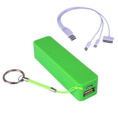 Laser 2200mah power bank   green
