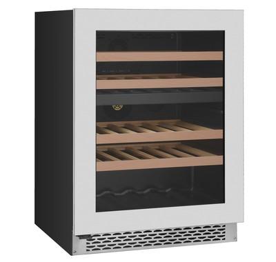Award 39 Bottle Undercounter Dual Temperature Wine Cabinet  S/Steel