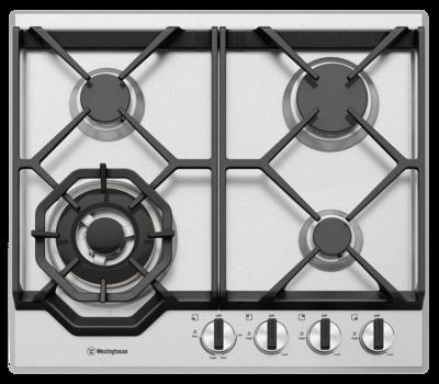 Westinghouse 60cm 4 burner stainless steel gas cooktop