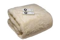 Sunbeam Queen Wool Fleece Bed Electric Blanket