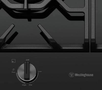 Westinghouse 60cm 3 burner black tempered glass gas cooktop %287%29