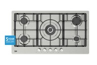 Beko 90cm Stainless Steel Gas Cooktop