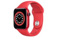 Apple Watch Series 6 GPS, 40mm Red Aluminium Case with Red Sport Band - Regular