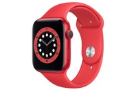 Apple Watch Series 6 GPS, 44mm Red Aluminium Case with Red Sport Band - Regular