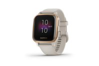 Garmin Venu SQ - Music Edition, Rose Gold Aluminium Bezel With Light Sand Case And Silicone Band