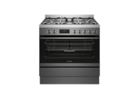 Westinghouse 90cm Dark Stainless Steel Dual Fuel Freestanding Cooker with Airfry - Dark Stainless Steel