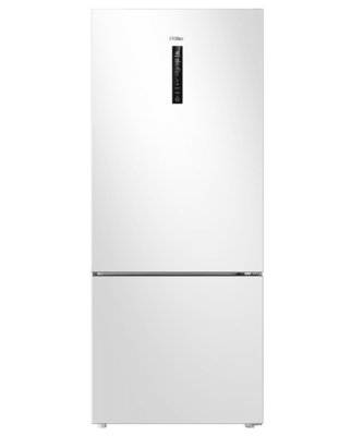 Haier 450L, Bottom Mount Refrigerator Freezer - White