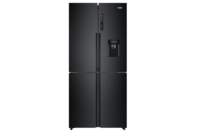 Haier 565L Quad Door Refrigerator Freezer, 84cm, Water Dispenser - Black