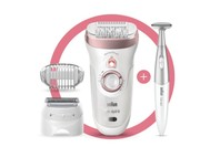 Braun Silk-épil 9 SkinSpa SensoSmart Epilator (4-in-1 epilation, exfoliation & skin care system + 8 extras)