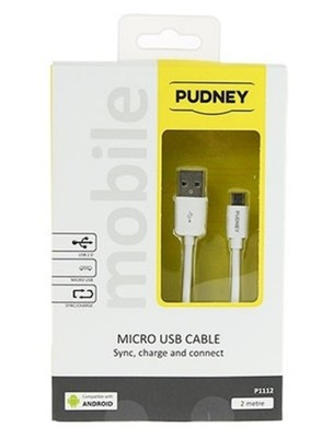 Pudney USB A to Micro USB 2M Cable