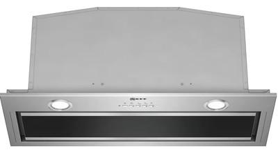 NEFF 70cm N90 Integrated Rangehood - Clear Glass Black