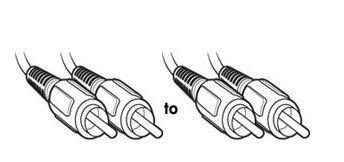 PUDNEY 2 RCA PLUGS TO 2 RCA PLUGS 1 METRE